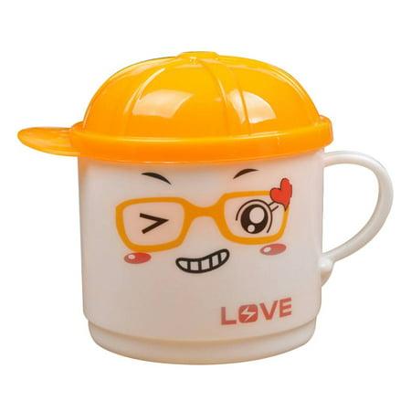 - Cartoon Hat Kids Child Plastic Drinking Juice Water Beverage Lids Cups Microwave Oven Use Color Random