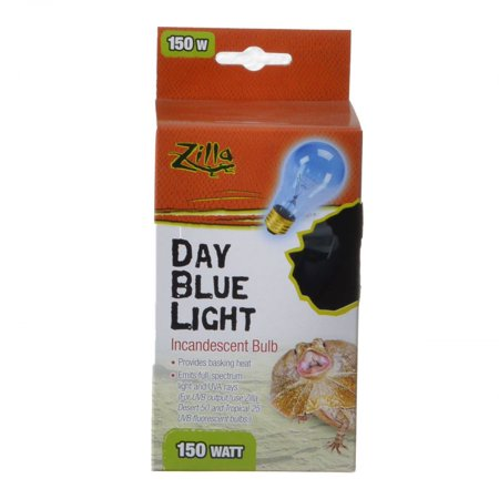 Day Blue Light Bulb (Zilla Incandescent Day Blue Light Bulb for Reptiles 150 Watt)