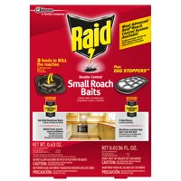 Raid Double Control, Small Roach Baits and Raid Plus, Egg Stoppers, 12 ct + 3 ct