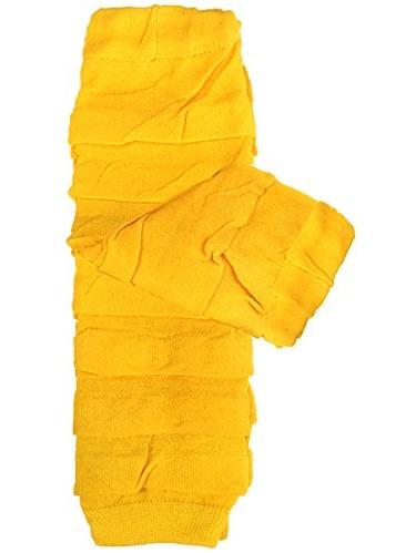 ALLYDREW Solid Baby Leg Warmer & Solid Toddler Leg Warmer for Boys & Girls (Ruffle Marigold)