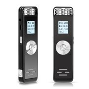 Digital Voice Recorder, Audio Recorder with Playback, Dictaphone with USB Rechargeable, MP3, Voice Activated Recorder for Meetings Lectures Interviews Classes