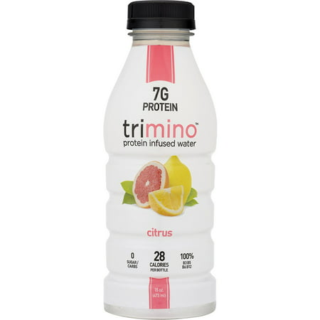 - Trimino Protein Infused Water, Citrus, 16 Fl Oz, 12 Ct