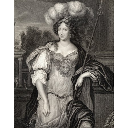 Frances Teresa Stuart Duchess Of Richmond And Lennox Byname La Belle Stuart Also Spelled Stewart 1647-1702 A Favourite Mistress Of Charles Ii From The Book Lodge S British Portraits  Published London - Mistress Metal