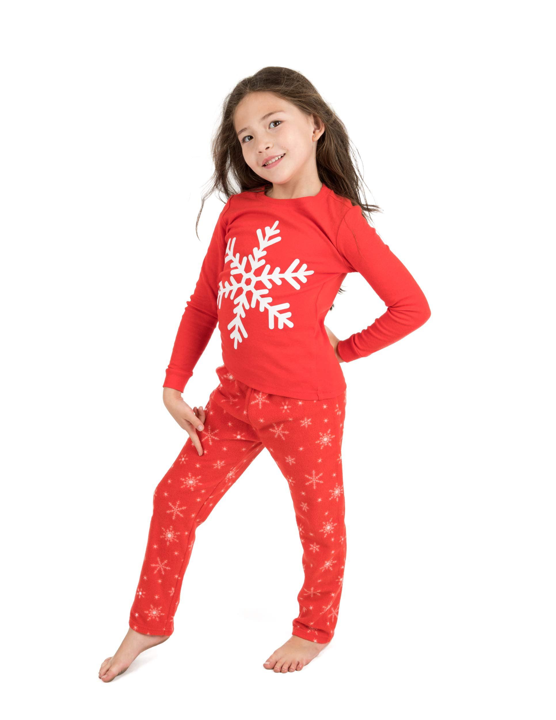 Leveret Kids Button Down Pajamas Boys /& Girls 2 Piece Christmas Pajama Set Size 2-14 Years