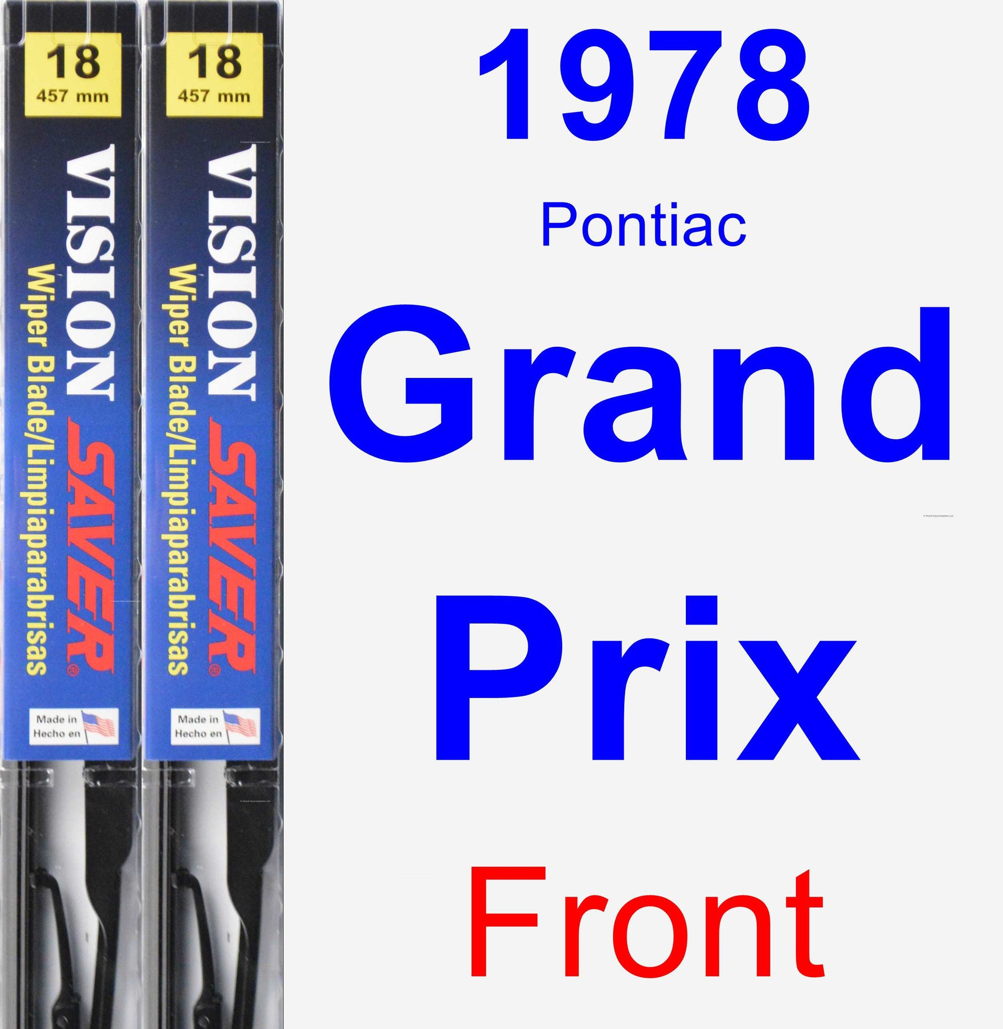 1978 Pontiac Grand Prix Wiper Blade Set/Kit (Front) (2 Blades) - Vision Saver