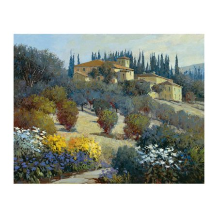 Away Wall Art - Tucked Away in Tuscany Print Wall Art By Kent Wallis
