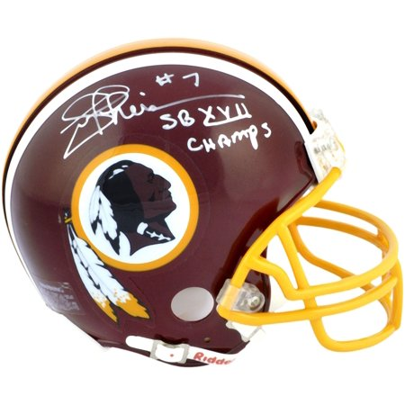 Joe Theismann Washington Redskins Autographed Riddell Mini Helmet with SB XVII Champs Inscription - Fanatics Authentic Certified