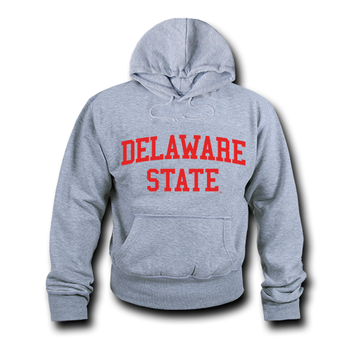 NCAA Delaware State University Hoodie Sweatshirt Game Day Fleece Heather Grey Small