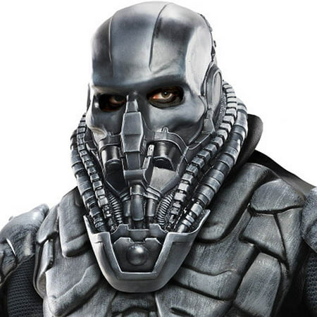 Adult Deluxe DC Superman General Zod Overhead Vinyl Mask Costume Accessory