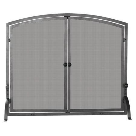Tremendous Uniflame Single Panel Iron Fireplace Screen With Doors Download Free Architecture Designs Photstoregrimeyleaguecom