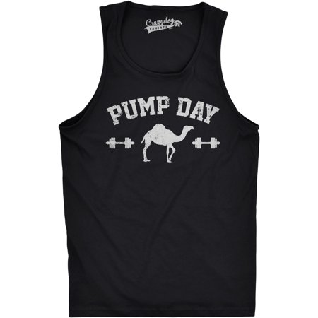 Mens Pump Day Funny Camel Hump Day Workout Sleeveless Fitness Tank Top - Hump Day Camel Halloween
