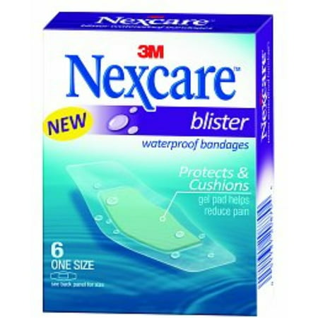 (Nexcare Blister Waterproof Bandages, One Size 6 ea (Pack of 3))