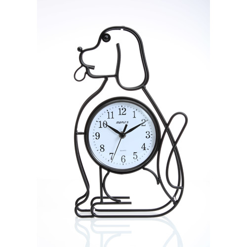 Maples Clock Silhouette Dog Table Clock by Maples Sales Inc