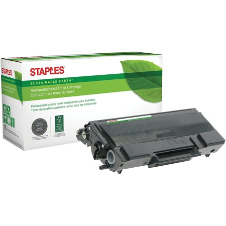 Staples Reman Laser Toner Cartridge Brother TN650 (TN-650) Black High Yield 894710 Black Reman Toner