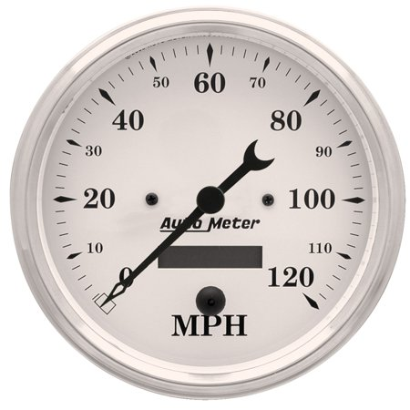 Autometer 1689 Old Tyme White Electric Programmable Speedometer