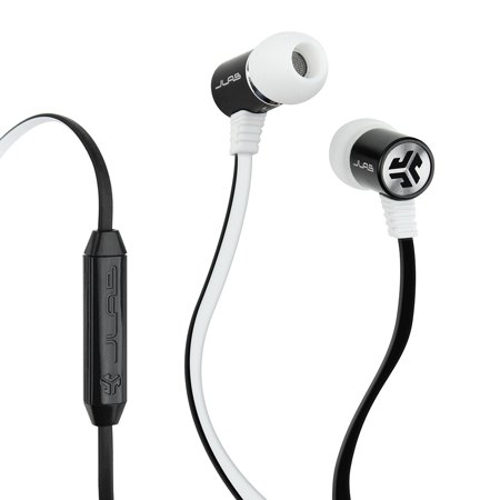 JLab Bass Rugged Metal Earbuds with JLab Bass Boost and