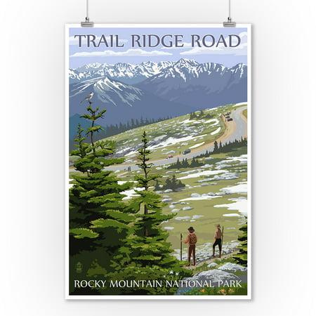 Rocky Mountain National Park, Colorado - Trail Ridge Road - Lantern Press Artwork (9x12 Art Print, Wall Decor Travel - Ridge Large Wall