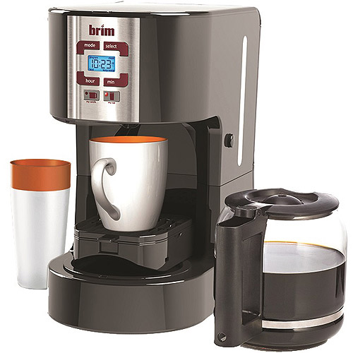 Brim Size-Wise Programmable Coffee Station, SW20, Black, Walmart Exclusive