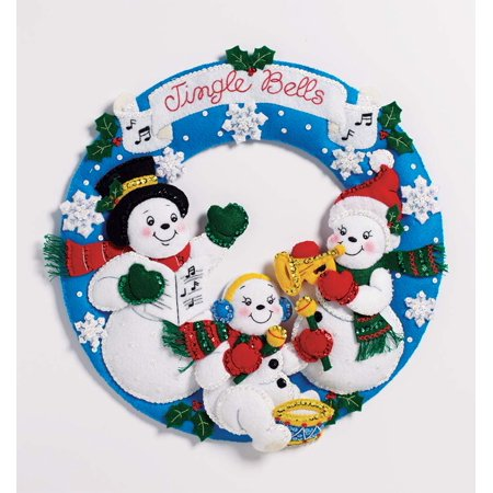 Plaid Snowman Family Band Felt (Holy Family Wreath)