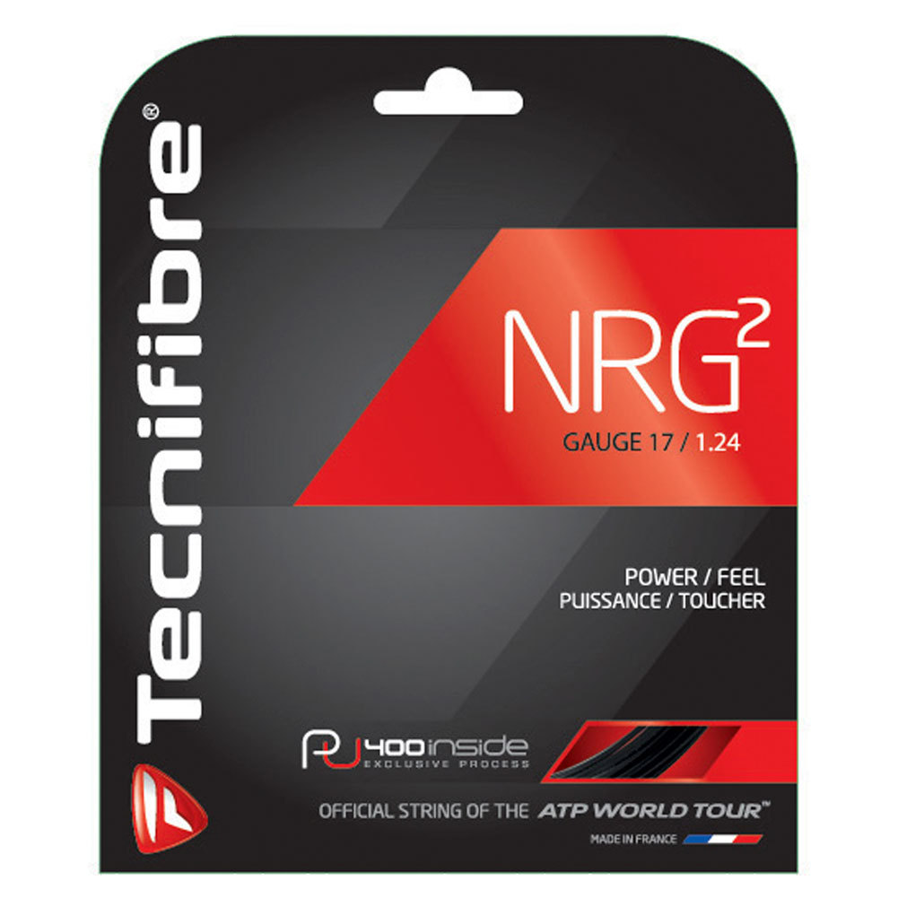 NRG2 17g Tennis Strings Black by TECNIFIBRE