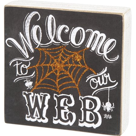 Welcome To Our Web Box Sign 6