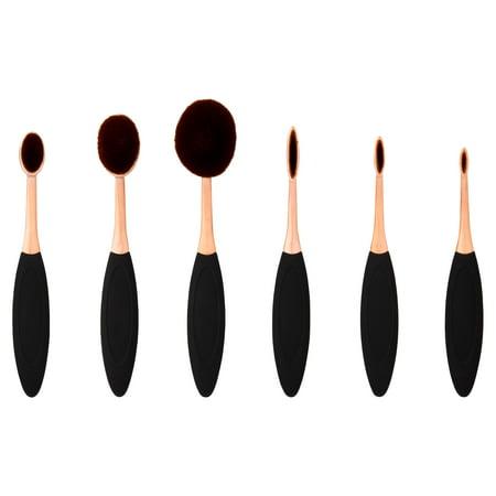 Premium Professional Cosmetic Brush Set, 6 pc (Best Brush For Chanel Bronze Universal)