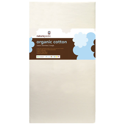 Lightweight Organic Cotton Classic 2-Stage Crib Mattress by Naturepedic