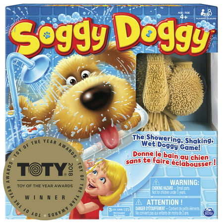 Soggy Doggy Board Game for Kids with Interactive Dog Toy, by Spin Master Ltd