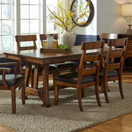 A-America Ozark Trestle Dining Table with Butterfly Leaf ()