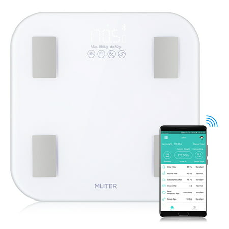 Mliter BF1201E-MI-02 Super White Body Fat Scale with APP