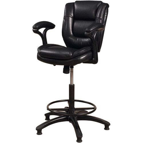 Hillsdale Furniture Dawson Adjustable-Height Swivel Stool, Black