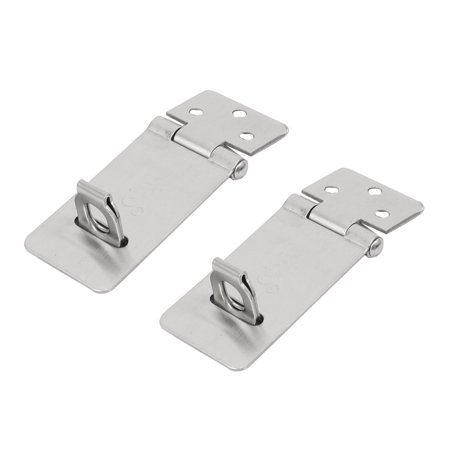 Door Gate Shed Padlock Stainless Steel Swivel Hasp Staple 2
