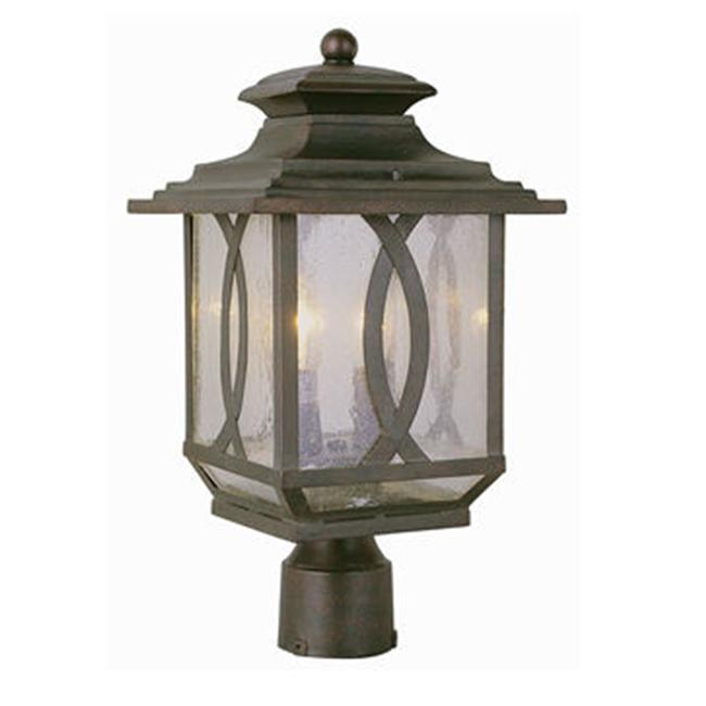 Trans Global Lighting 5193 BRT Estate 2 Light Medium Outdoor Post Top - Burnished Rust