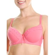 Angelina Ribbon Trimmed Padded Demi-Cup Convertible Bras (6-Pack)