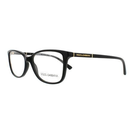 d047bae859a DOLCE   GABBANA Eyeglasses DG 3219 501 Black 55MM - Walmart.com