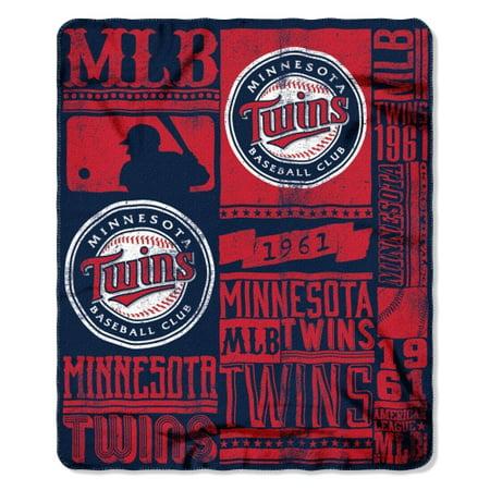 Twins OFFICIAL Major League Baseball, Strength 50x 60 Fleece Throw  by The Northwest Company