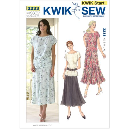 (Kwik Sew Pattern Tops and Skirt, (XS, S, M, L, XL))