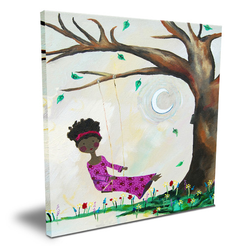 Cici Art Factory Wit and Whimsy Silver Moon Canvas Art