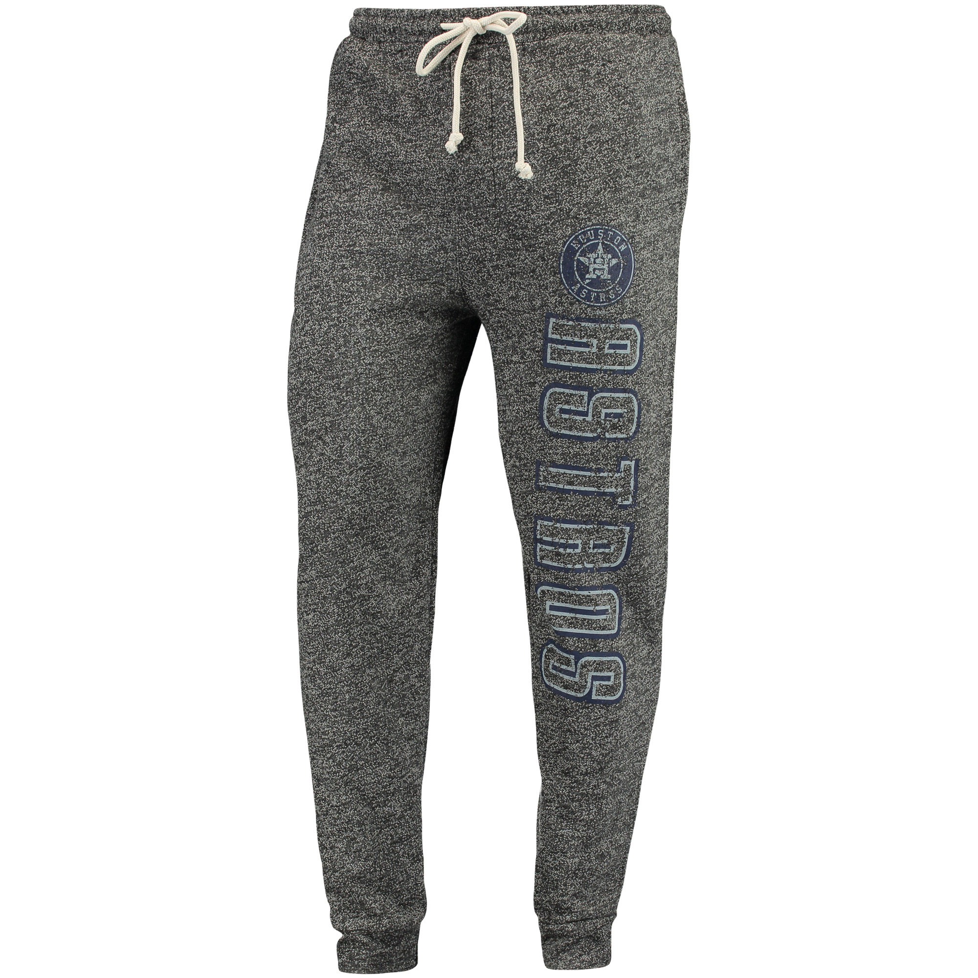 Houston Astros Concepts Sport Pinpoint French Terry Cuffed Pant - Charcoal