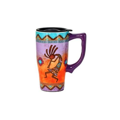 Spoontiques Southwestern Kokopelli Coffee Travel Mug with...