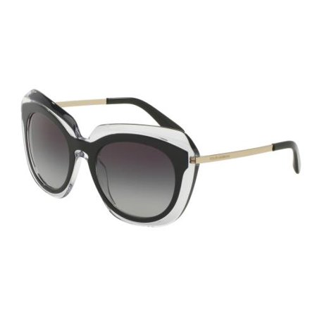 c8c1e4c43d DOLCE & GABBANA - DOLCE & GABBANA Sunglasses DG 4282 675/8G Top Black On  Transparent 54MM - Walmart.com