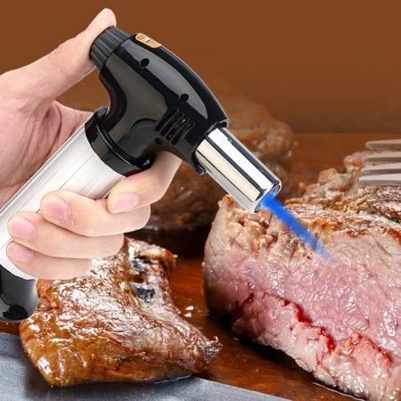 Professional Kitchen Blow Torch Adjustable Flame for Meat