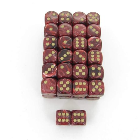 Bulk Dice (Burgundy Vortex Dice with Gold Pips D6 16mm (5/8in) Bulk Pack Of 50)