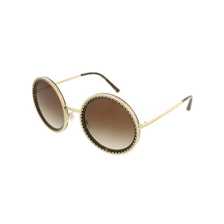 Dolce & Gabbana Women's Gradient Dg2211-02/13-53 Gold Round (All Gold Sunglasses)