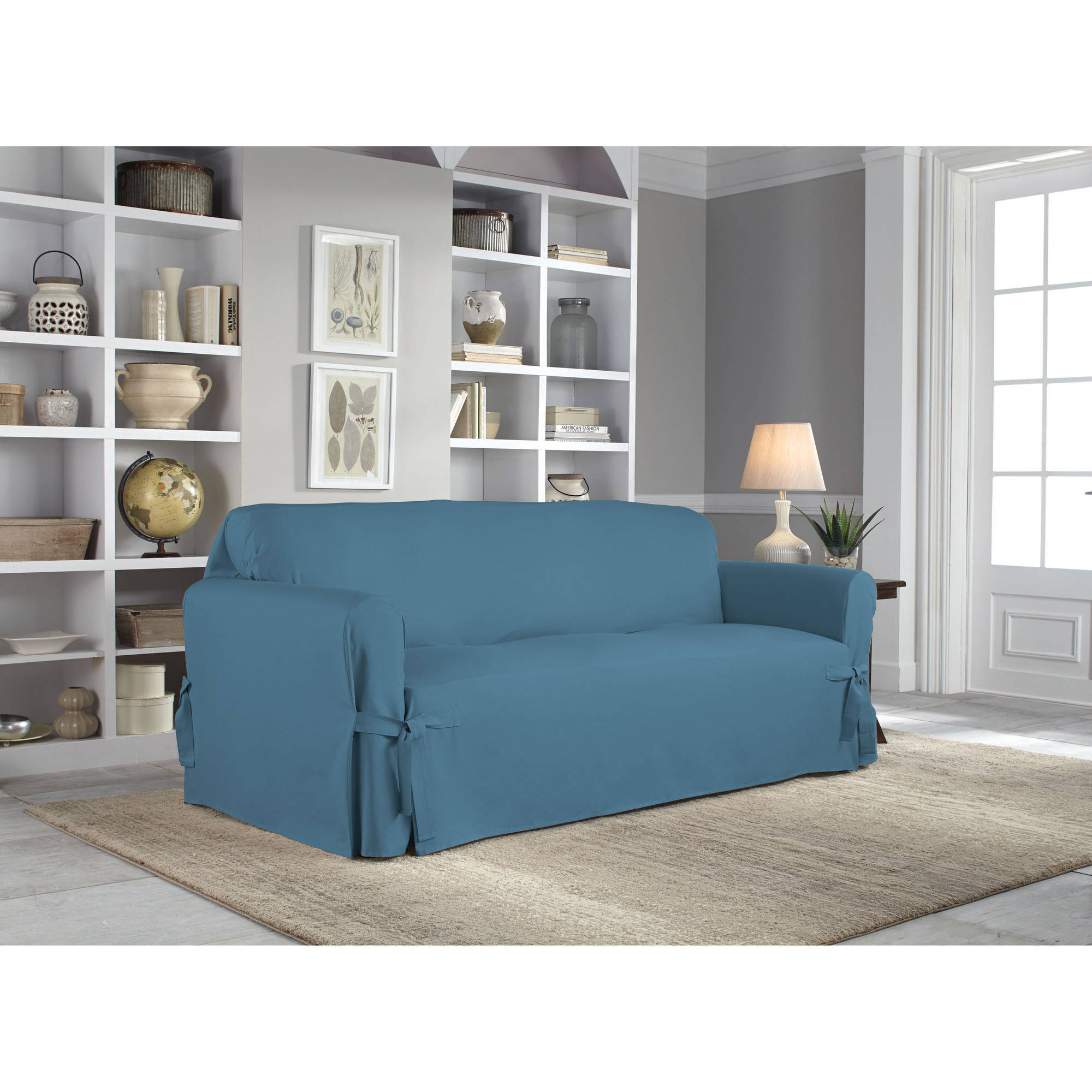 Serta Relaxed Fit Duck Furniture Slipcover Sofa 1 Piece Box