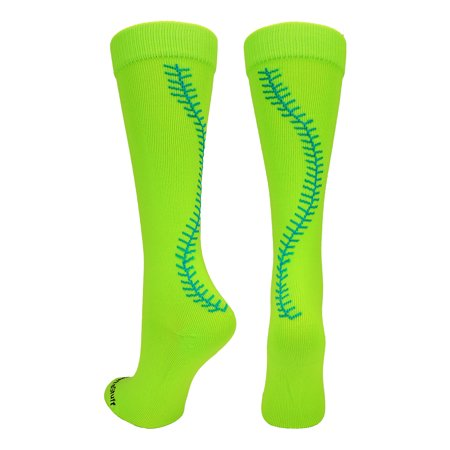 Madsportsstuff Softball Socks With Stitches Over The