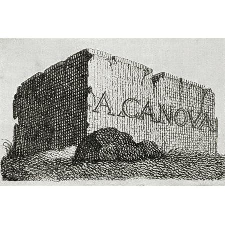 The Visiting Card Of Antonio Canova Depicting A Huge Block Of Marble Antonio Canova 1757 -