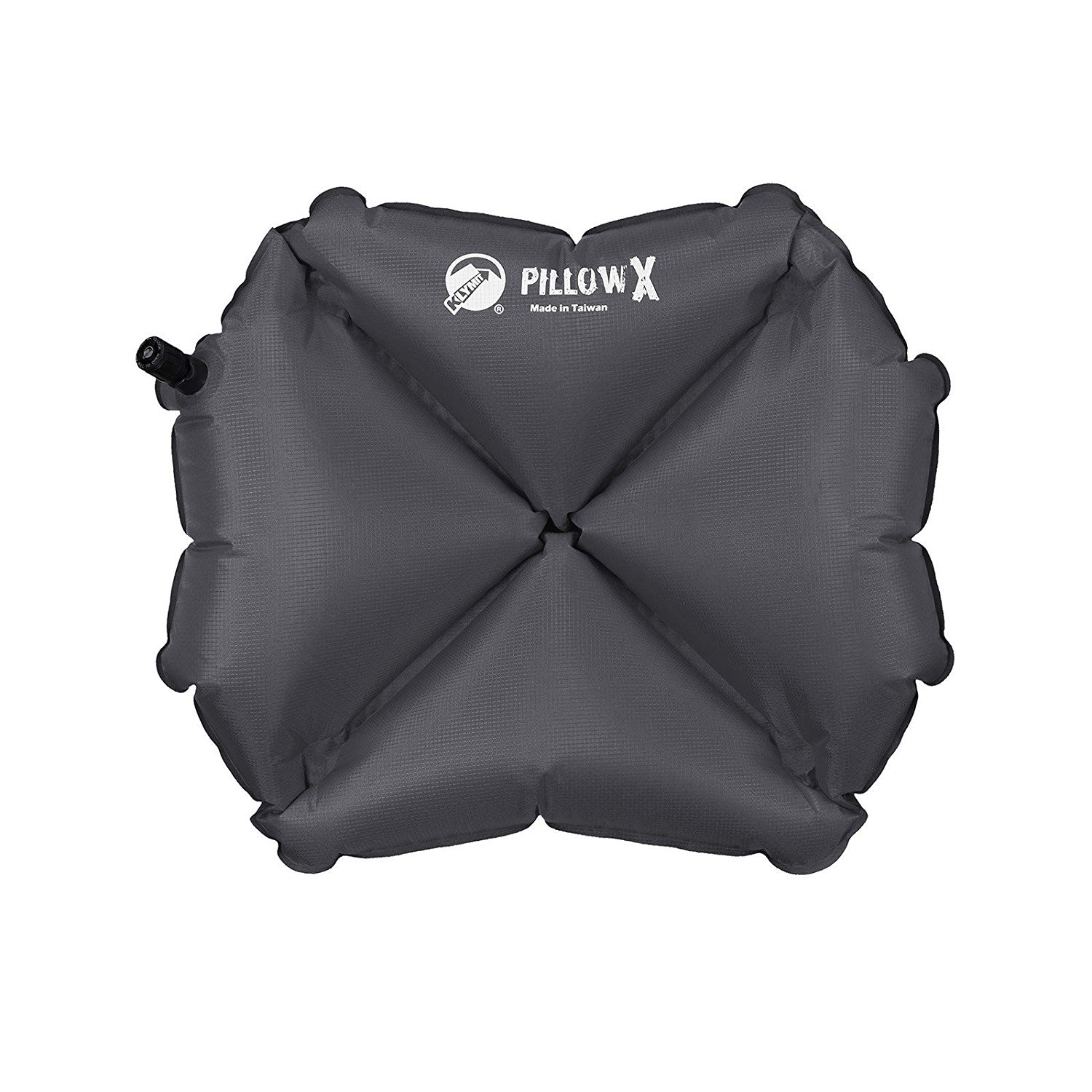 Pillow X Inflatable Camp & Travel Pillow (Charcoal), Superior resistance to tear, abrasion and puncture By Klymit