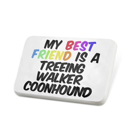 Porcelein Pin My best Friend a Treeing Walker Coonhound Dog from United States Lapel Badge – NEONBLOND