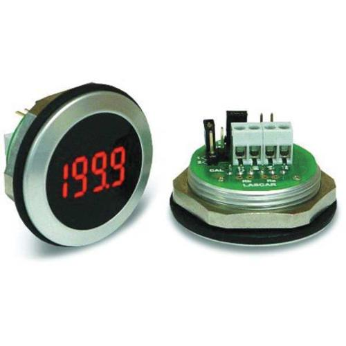 LASCAR EM32-1B-LED LED Voltmeter, Waterproof, 3-1/2In., 200mV